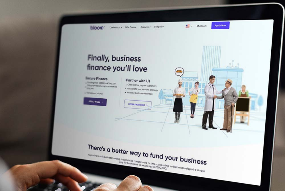 Web Design for Bloom Finance
