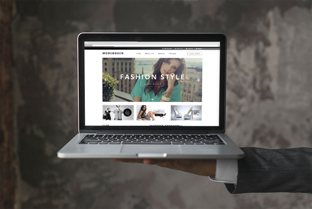 Web Design for Fashion Clothing