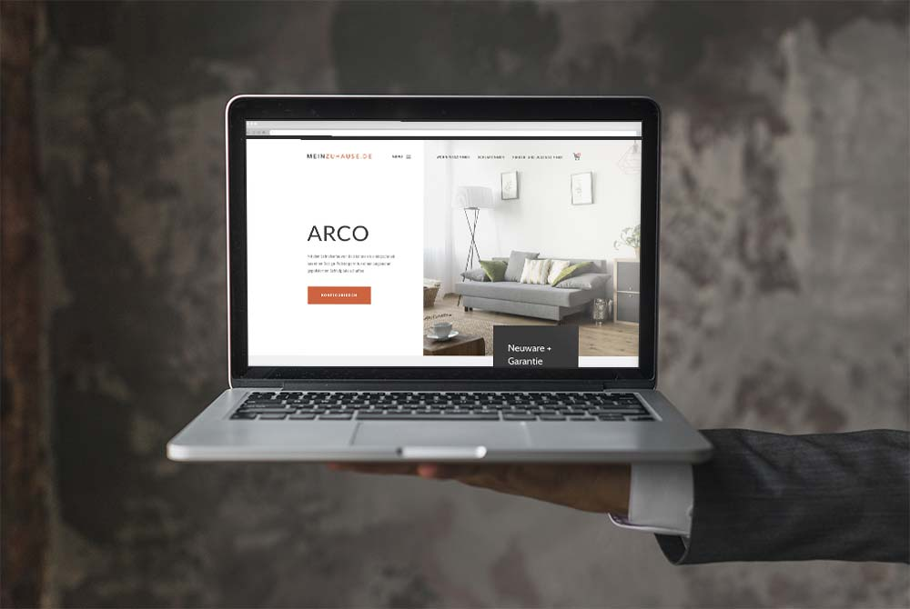 Website Design for Furniture Storefront