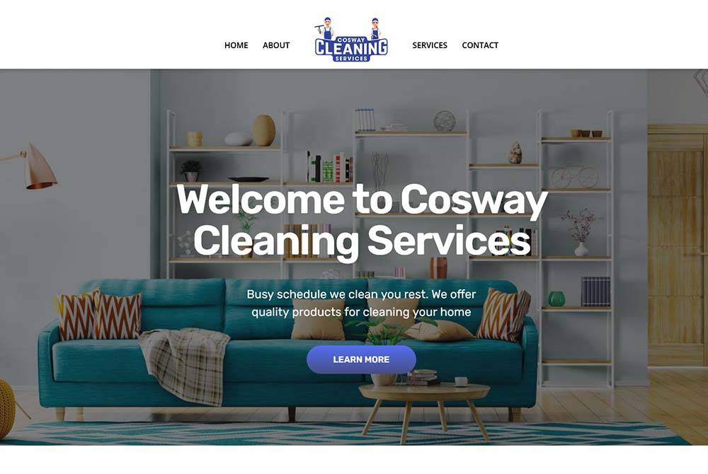 Cosway Cleaning Service Website