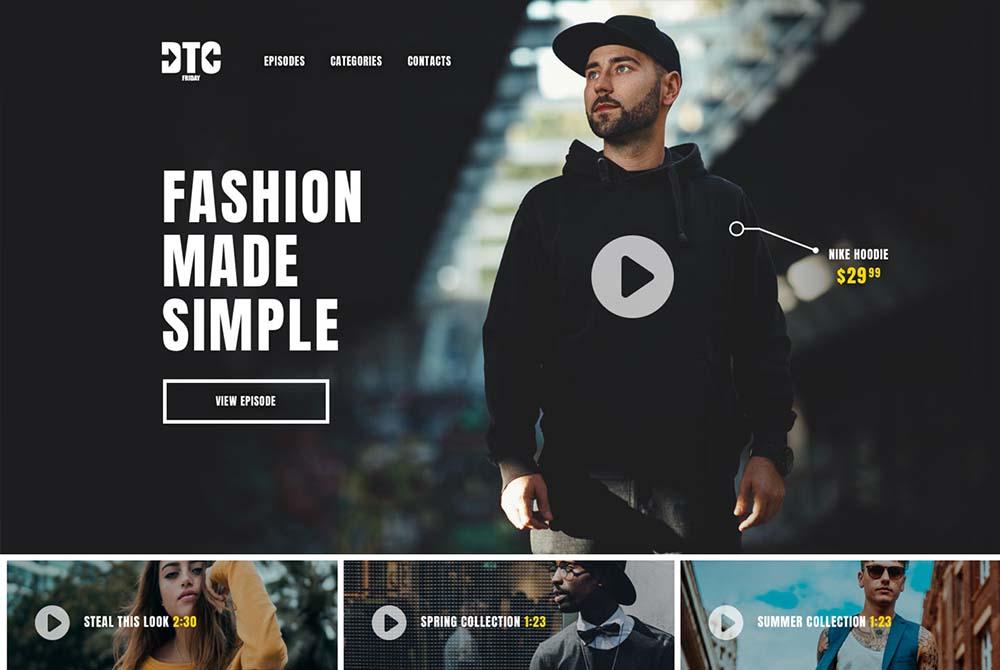 Fashion Company Website