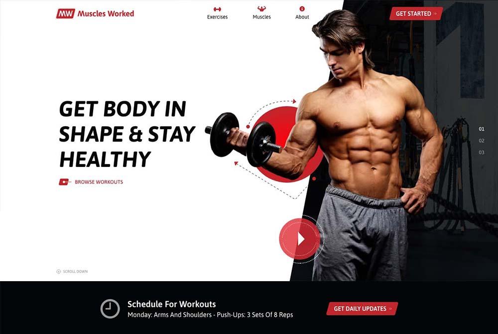 Website Design for Fitness Gym
